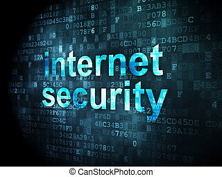 Protection concept: Internet Security on digital background
