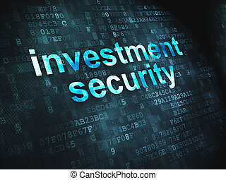 Protection concept: Investment Security on digital background