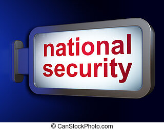 Protection concept: National Security on billboard background