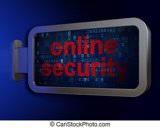 Protection concept: Online Security on billboard background