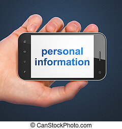Protection concept: Personal Information on smartphone