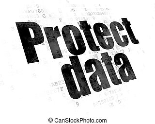 Protection concept: Protect Data on Digital background