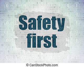 protection, concept:, sûreté abord, sur, numérique, données, papier, fond