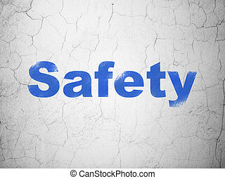 Protection concept: Safety on wall background - Protection...