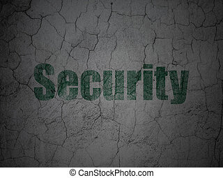 Protection concept: Security on grunge wall background