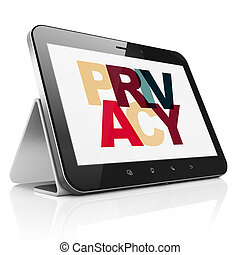 Protection concept: Tablet Computer with Privacy on display