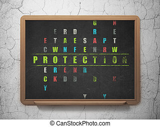 Protection concept: word Protection in solving Crossword Puzzle