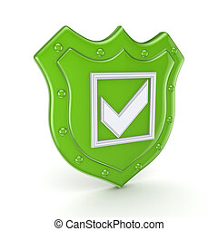 Protection concept.Isolated on white background.3d rendered...
