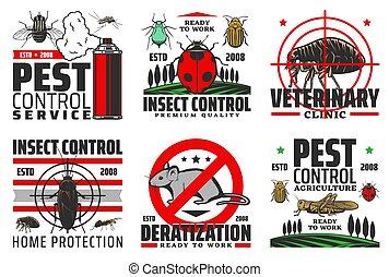 protection, contrôle, insectes, récolte, casse-pieds