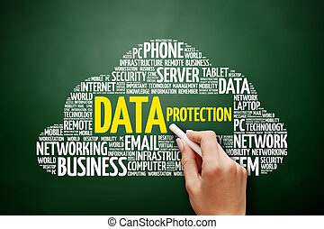 protection données, mot, nuage