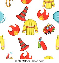 Protection from fire pattern, cartoon style