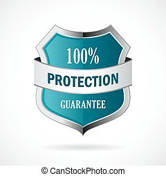 Protection guarantee vector shield icon