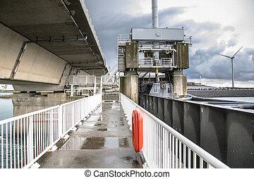 protection, hollandais, travaux, orage, delta