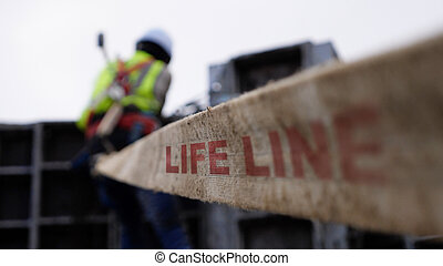 Protection life line system on construcion site - ...
