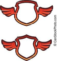 protection, logo, anti, aile, sécurité, virus, bouclier, ensemble