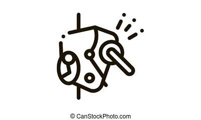 protection, métallique, icône, mécanisme, alpinism, animation