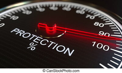 Protection meter or indicator conceptual animation - Analog...