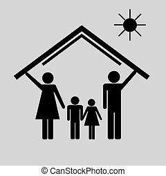 Protection of family in house