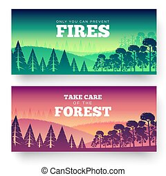 Protection of forests against fire Day. Take care of the...