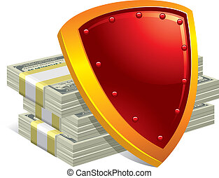 Protection of money and payments. Detailed vector ...