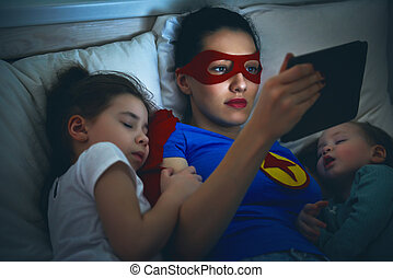 protection of the mother superhero - Adorable little...