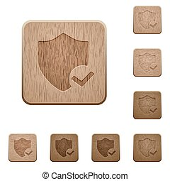 Protection ok wooden buttons