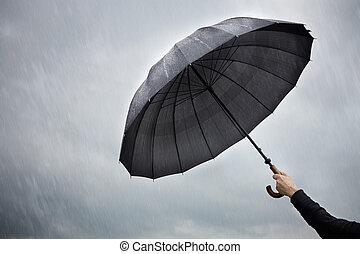 (protection, paraguas, concept)