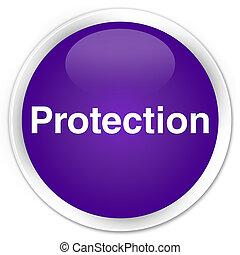 Protection premium purple round button