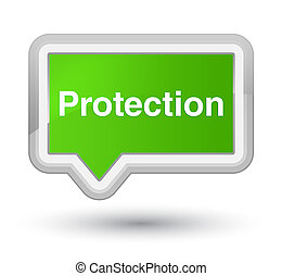 Protection prime soft green banner button