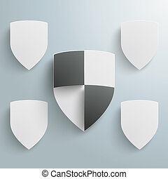 Protection Shield Infographic 4 Options