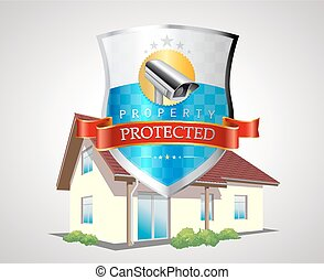 Protection shield with house