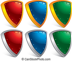 Set of protection shields
