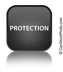 Protection special black square button