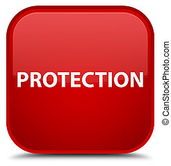 Protection special red square button