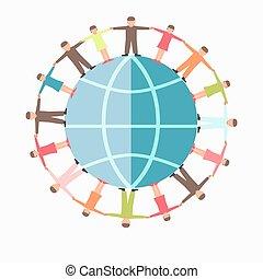 protection, symbole, vecteur, gabarit, mondiale, charité, enfants, icône