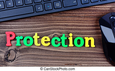 Protection word on table