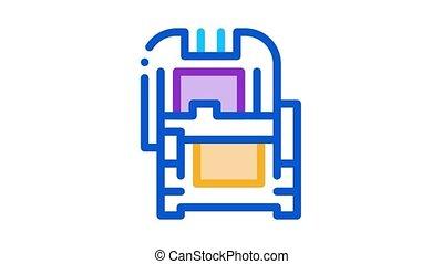 protective case window glass Icon Animation. color protective case window glass animated icon on white background