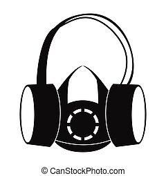Protective ear muffs and respirator icon - Protective ear ...