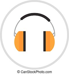 Protective ear muffs isolated on a white background. Ear...