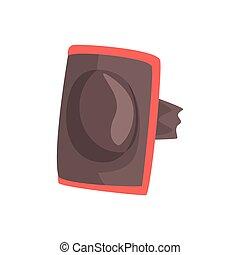 Protective elbow pad cartoon vector Illustration