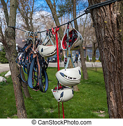 Protective gear for climbers - Harnesses, helmets and ...