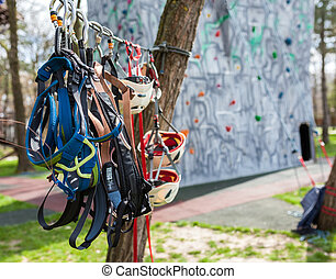 Protective gear for climbers - Helmets, harnesses and ...