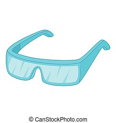 Protective glasses icon, cartoon style