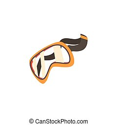 Protective glasses, safety goggles cartoon vector illustration
