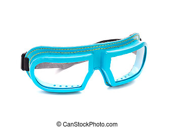 Protective glasses. Isolated on a white background.