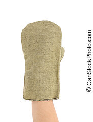 Protective glove. Isolated on a white background.