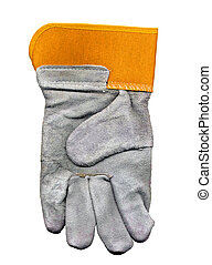 Protective Glove - Orange and Grey Protective Construction...