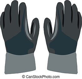protective gloves - dark gloves work