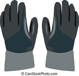 protective gloves - dark gloves work