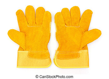 Protective gloves, isolated on white background